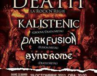 """Groove Till Death"" concert poster"