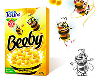 "Character design project for Beeby Cereals ""E. Leclerc"""