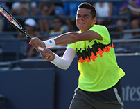 milos raonic 2014 us open kit