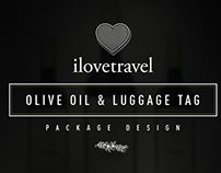 I Love Travel — Olive Oil & Luggage Tag Packaging