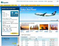Expedia Flight Launch Page