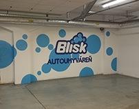 Blisk Autoumyvaren Reklamna malba