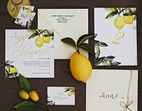 Invitation set for wedding in Ravello