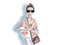 Digital Watercolor Fashion Illustrations