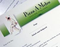 Pizza A Metro Cucina Italiana Identity