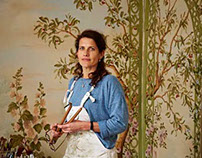 In the studio of Decorative artist Lucinda Oakes