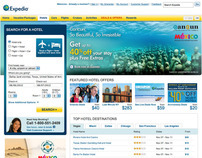 Expedia Hotel Launch Page