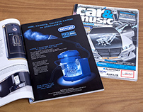 Advertising pages and covers for magazines
