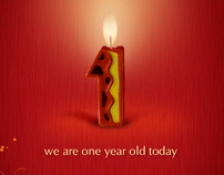 We ar one year old today
