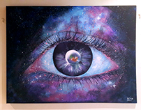 "Acrylic Paintings - ""Space"""