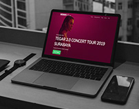 Concert Ticket Website Design