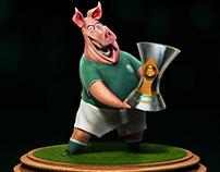 Porco campeão