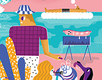 Editorial illustrations 2015 summer