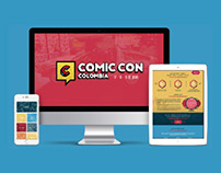 Comicon Colombia - Sitio web