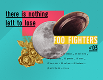 FOO FIGHTERS: Posters tipográficos