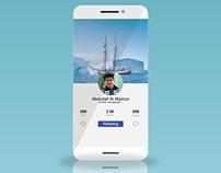 Profile Page Design UI