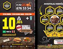 Anzer Döner Logo + Broşür + Magnet