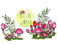 Nature Woman // Watercolor Painting