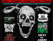 Heavy Metal Birthday Flyer