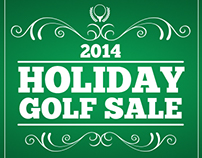 National Golf Advertising - Holiday Golf Sale