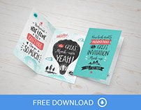 Invitation / Greeting Card Mock-Up - FREEBIE