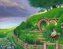 Back Again – Oil Painting inspired by The Hobbit