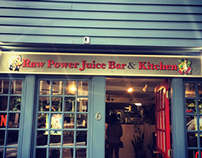 Raw Power Juice Bar & Kitchen Sign