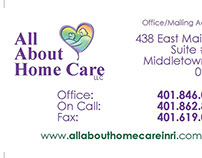 All About Home Care Business Card