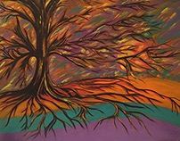 Tree of Fire Acrylic on Canvas