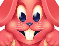 Pinky Bunny - Photoshop vs Affinity Designer