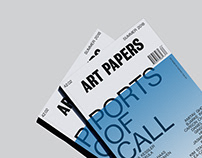 Art Papers Editorial Design