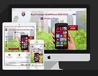 Prestigio 8500 DUO responsive web-site