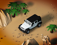 Jeep Wrangler Animation