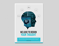 Clean Flyer for Web Designer and Developer