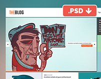 TheBlog Website PSD