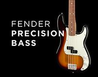 Web design for Fender precision bass