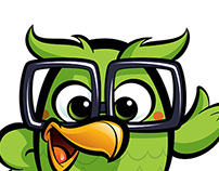 Cartoon Geek Owl