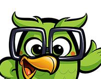 Cartoon Geek Owl