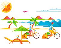 Summer animation for La Suite's promo campaign 2015