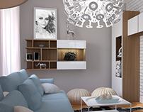 projekt mieszkania w stylu skandynawskim - Warszawa