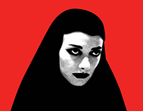 A Girl Who Walks Home Alone at Night Illustration