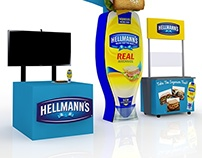 Hellmann's Mayonnaise Display 3D Concept