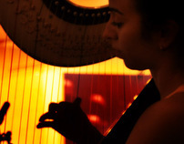 Girl & Harp