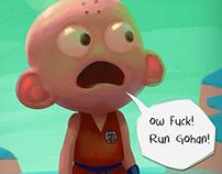 ow fuck!  run Gohan!