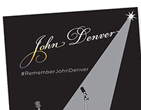 Digital Poster design for #rememberjohndenver