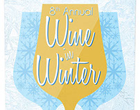 Wine in Winter Invite, Banner, and Ticket
