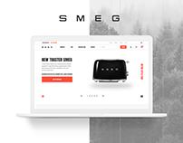 UI   UX Concept for SMEG Online Store