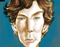Caricature of Sherlock