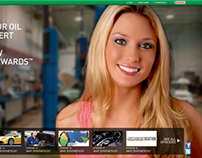 Redesign concepts for Castrol Canada promotional portal