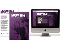 NOVUM: branding, flyer design and web design